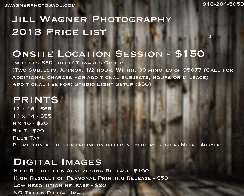 2018 Price List